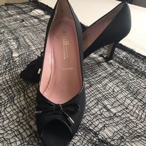 Amalfi for Nordstrom Black Peep Toe Shoes